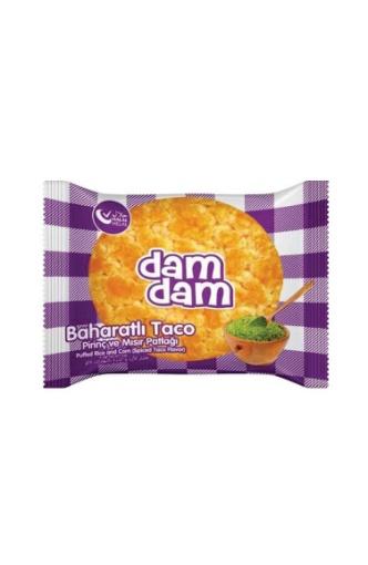 Damdam Baharatlı Taco Mısır&Pirinç Patlağı 36 Gr resmi