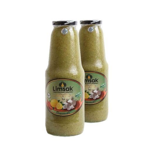 Limsak Maydanozlu Limon-Sarımsak Kürü (2 Adet Özel Cam Şişede) 2 Lt resmi