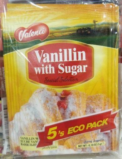 Valenci Şekerli Vanilin 5 Gr (5 Adet) resmi