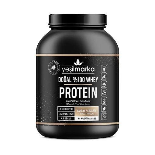 Yeşilmarka Doğal Whey Protein Tozu Çikolata/Vanilya 748 Gr resmi